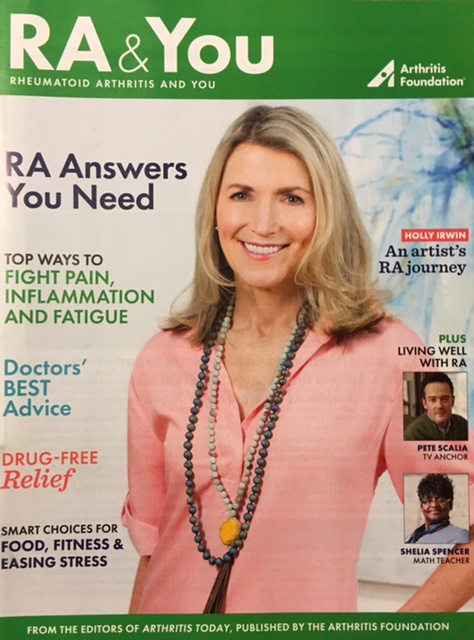 Holly Irwin on the cover of RA and You magazine.